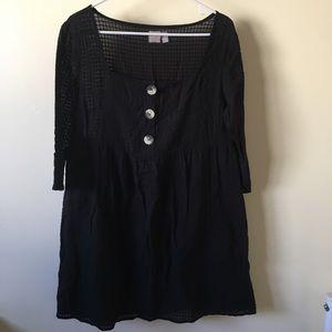 Black minidress size 10